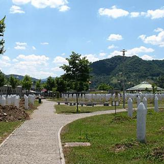 Graves at Srebrenica. The site is part of a planned tour of Bosnia and Serbia. (Photo: Martijn Munneke/Flickr)