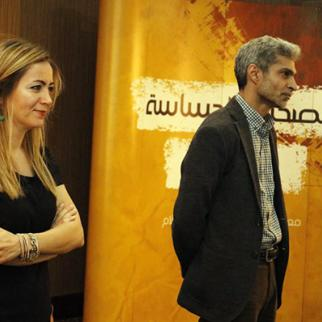 IWPR Team who wrote and filmed episodes of the conflict sensitive press manual. (Photo: IWPR)