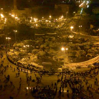 Small-screen coverage of the Egyptian uprising has exploded many of the myths perpetuated by Arab TV dramas. (Photo: Ramy Raoof/Flickr)