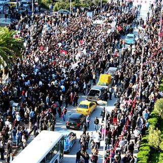 Demonstration by the Occupy Bardo movement in Tunis. (Photo: Amine Ghrabi/Flickr)