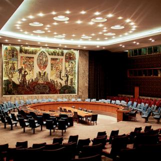 UN Security Council chamber in New York. Analysts warn that divisions within UN Security Council could prompt further efforts to end the trials of Kenya's president and deputy president. (Photo: Zack Lee/Flickr)