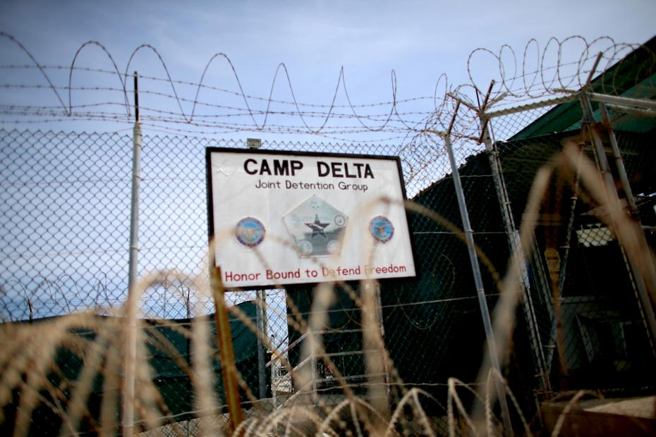 Razor wire is seen on the fence around Camp Delta which is part of the U.S. military prison for 'enemy combatants' in Guantanamo Bay, Cuba.