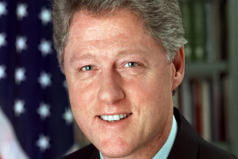Bill Clinton, US President 1993-2001.