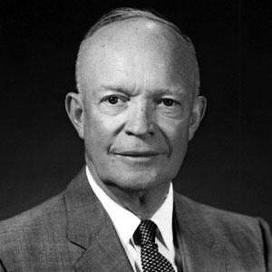 US President Dwight D. Eisenhower
